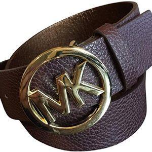 Michael Kors MK Leather Belt